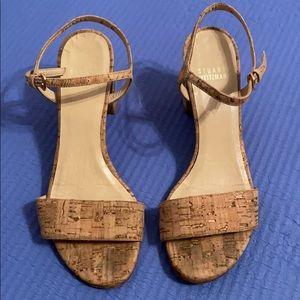 Stuart weitzman beige nude cork sandals